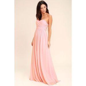 Lulu's All Afloat Blush Pink Maxi dress
